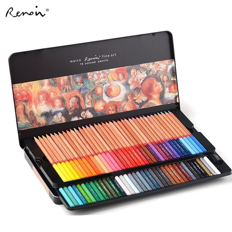 Marco 24 36 48 72 100 Color Pencil Watercolor Oil Lapis De Cor