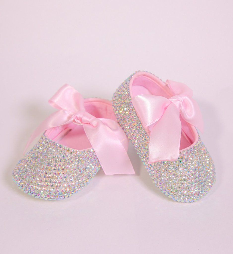 Rhinestone baby shoes, Baby girl shoes