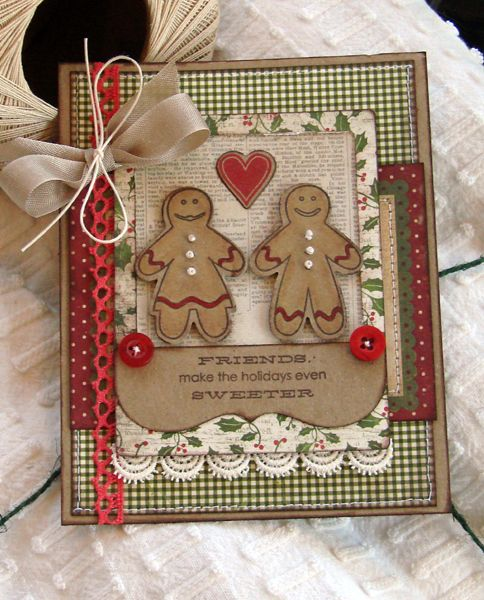 Cute gingerbread card
