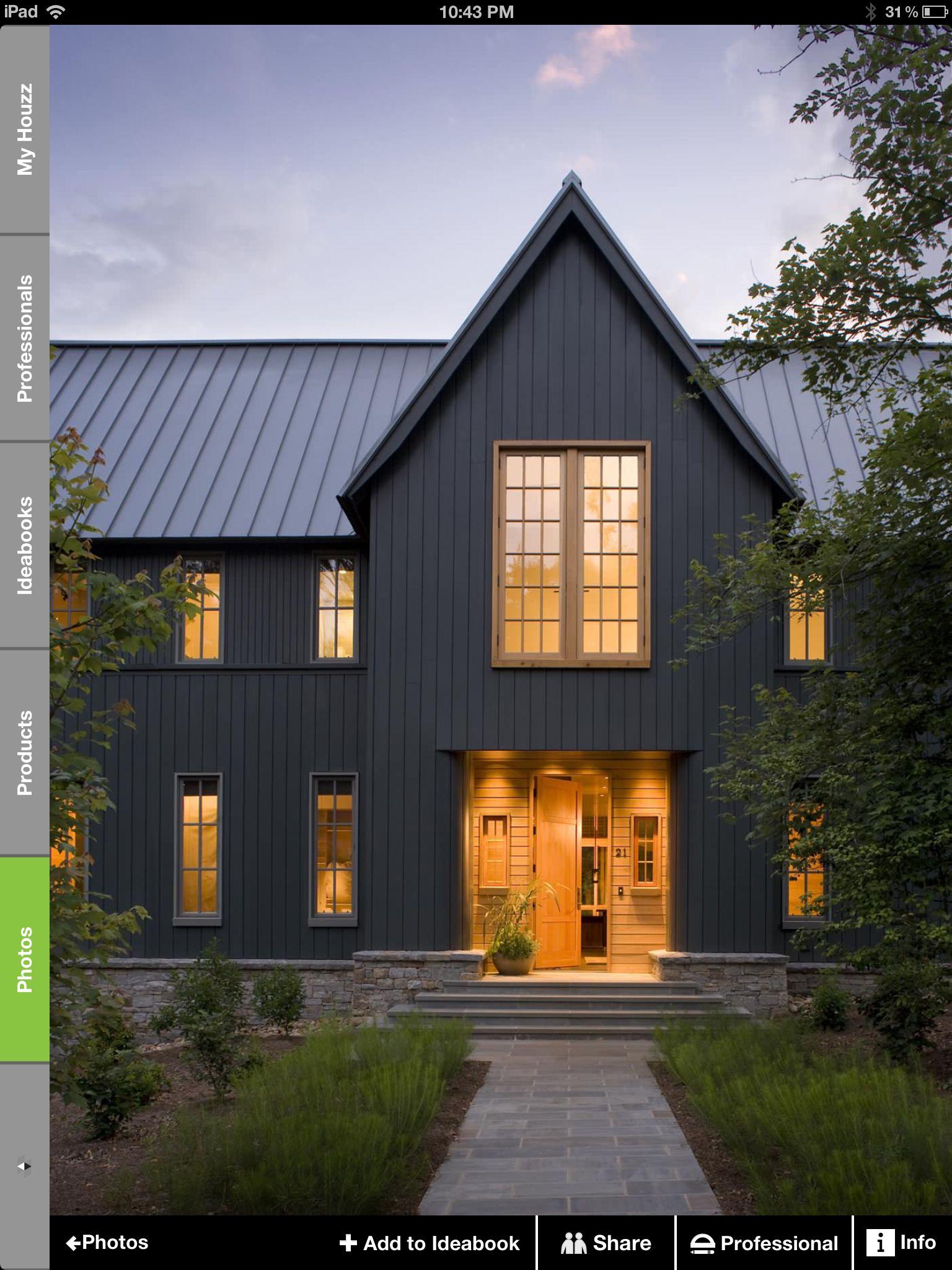Contemporary & Traditional - Grey Elevation