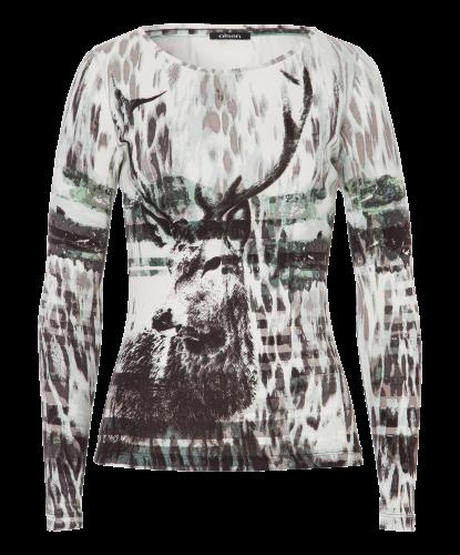 Langarm-Shirt bedruckt - salvia