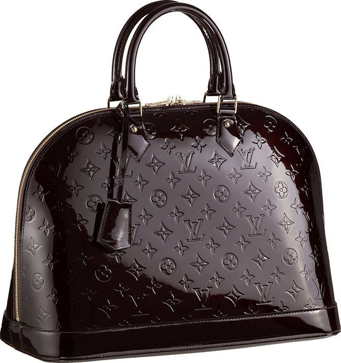 2b0b3970808 Louis Vuitton Monogram Vernis Alma MM Handbag Amarante. I get so ...