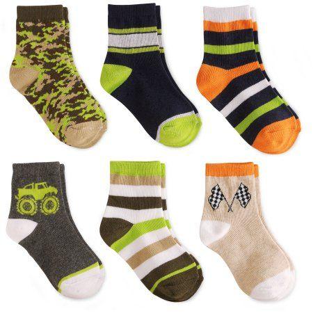 Garanimals Toddler Boys Crew Socks 6 Pair Size 18-36 Months