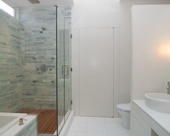 bathroom modern bathroom design with alluring bathroom shower tile designs with green shower tile color also wooden bath tray and white vanity sink and - Modern Bathroom Tile Designs