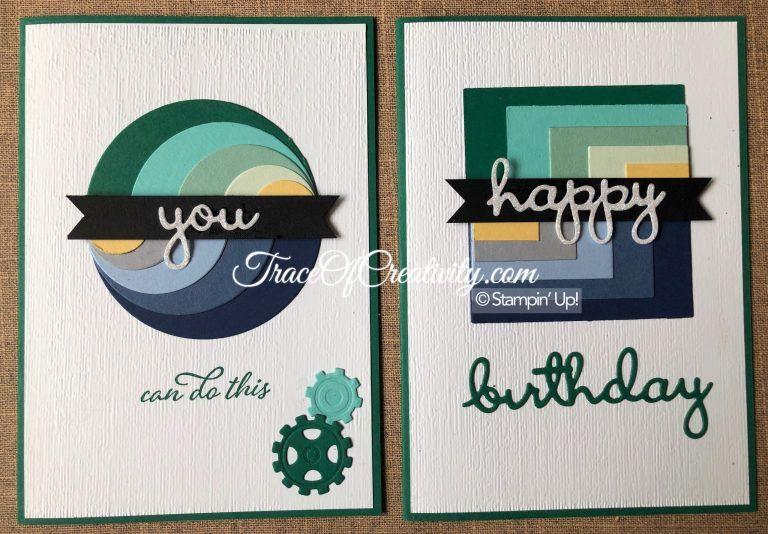 Layered Circles Masculine Card