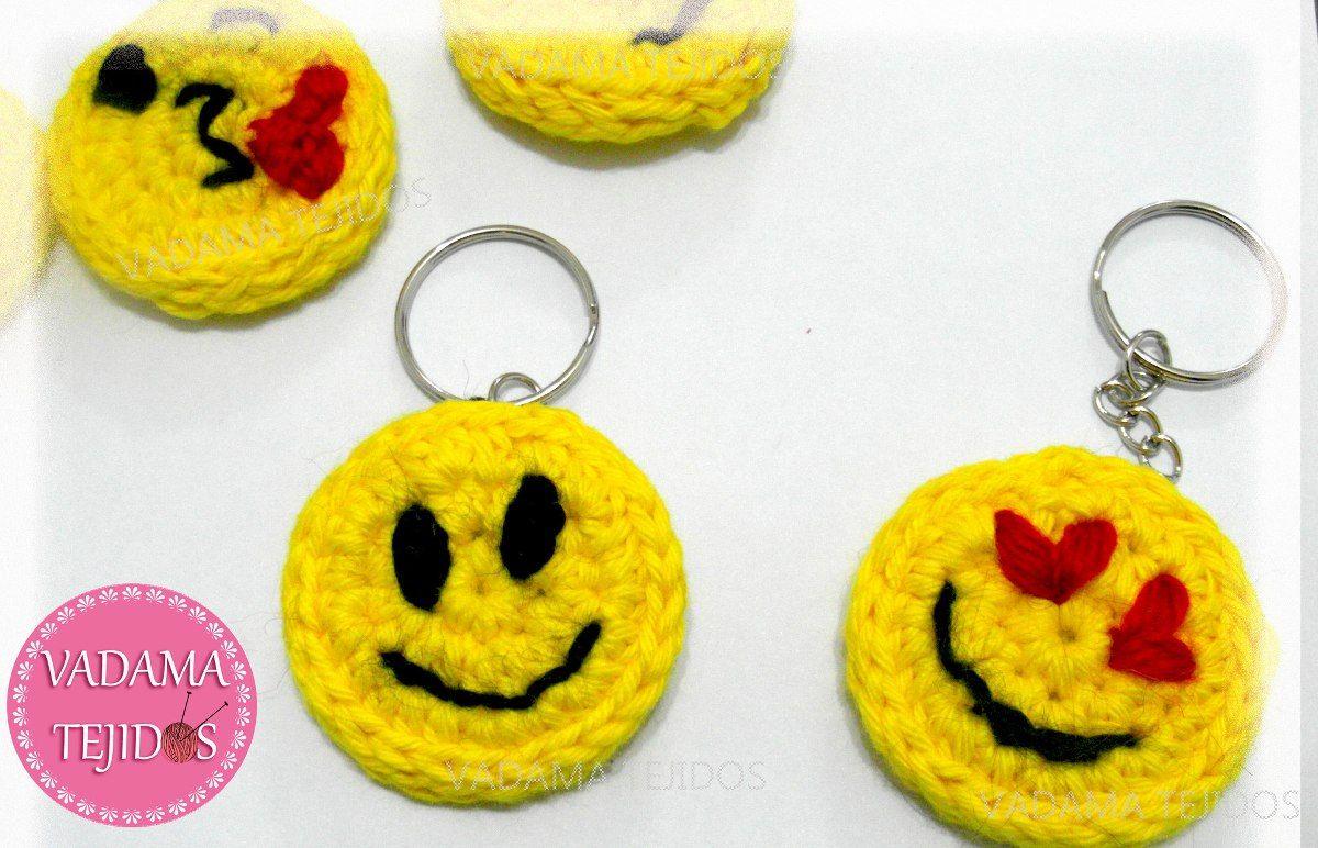 Souvenir Llavero Smile Caritas Crochet Emojis Emoticones - $ 20,00 ...