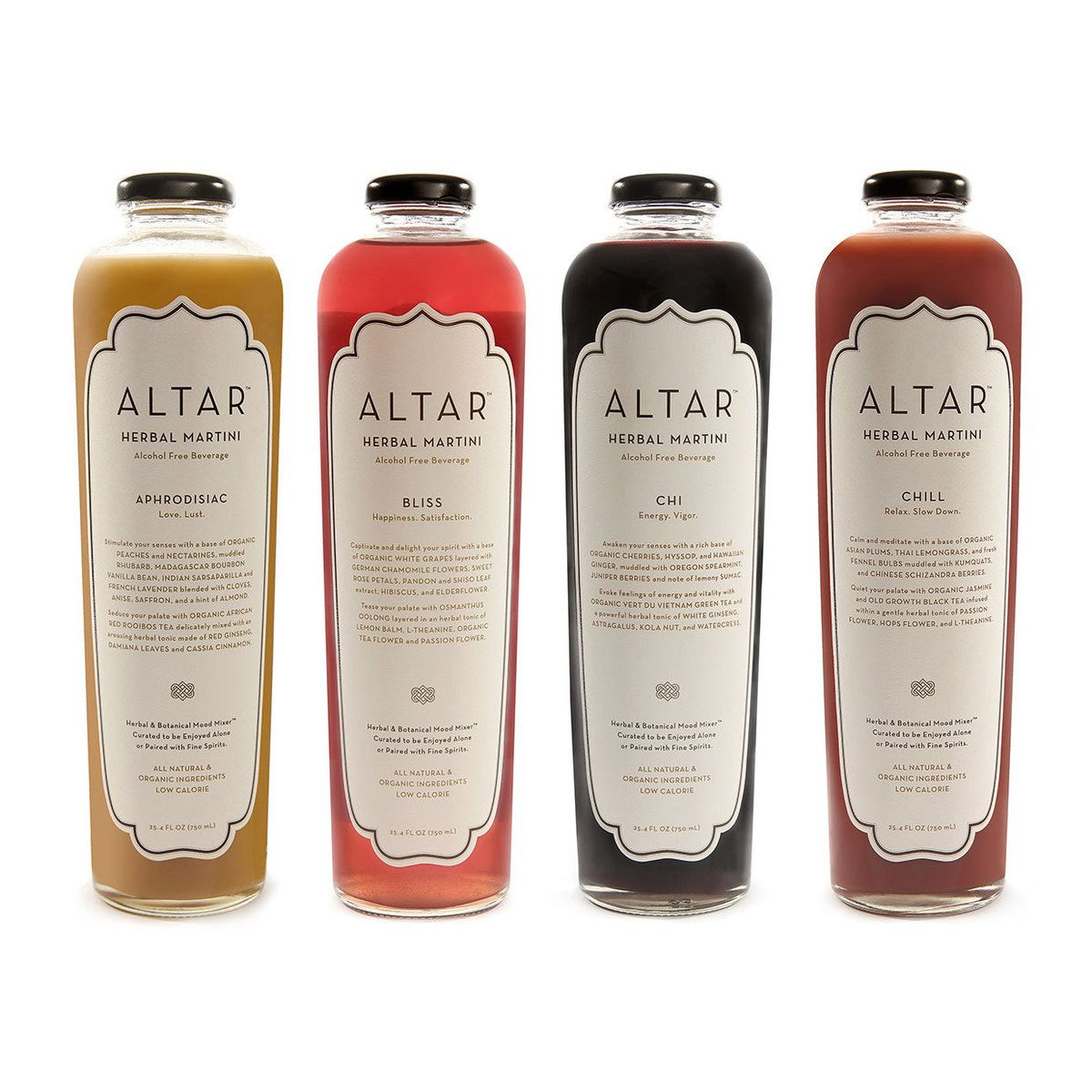 ALTAR Variety Set Of 4 Juice And Herb Drink Mixers