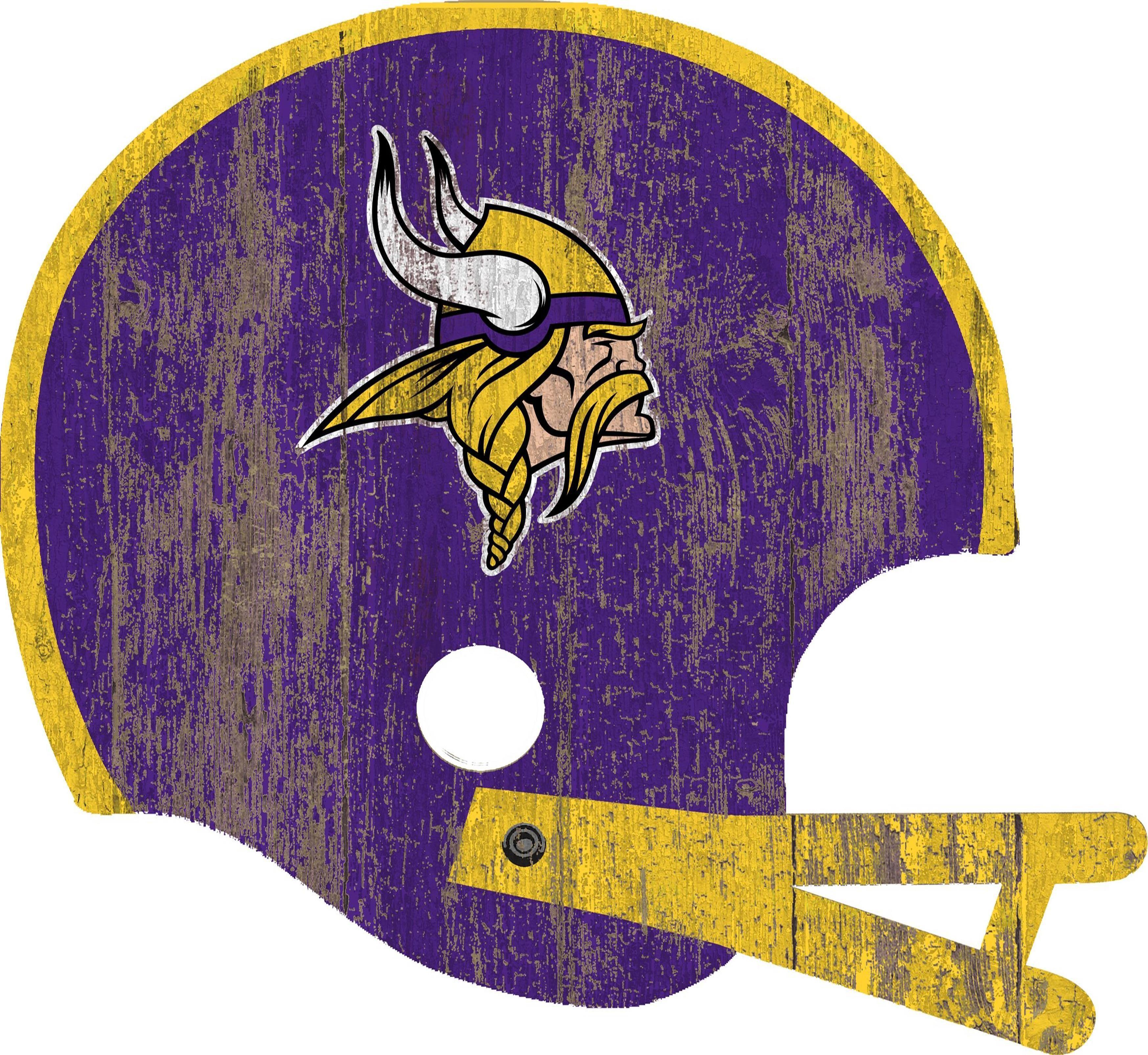 Minnesota Vikings Distressed Helmet Cutout 24 Wall Art Viking Signs Minnesota Vikings Fan Creations