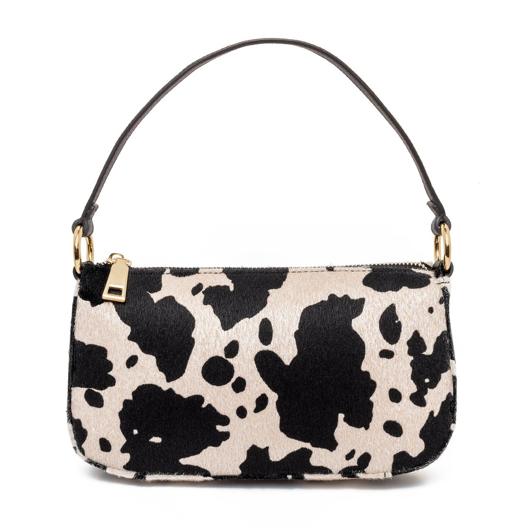 99% Angel Shoulder Bag in Cow Print