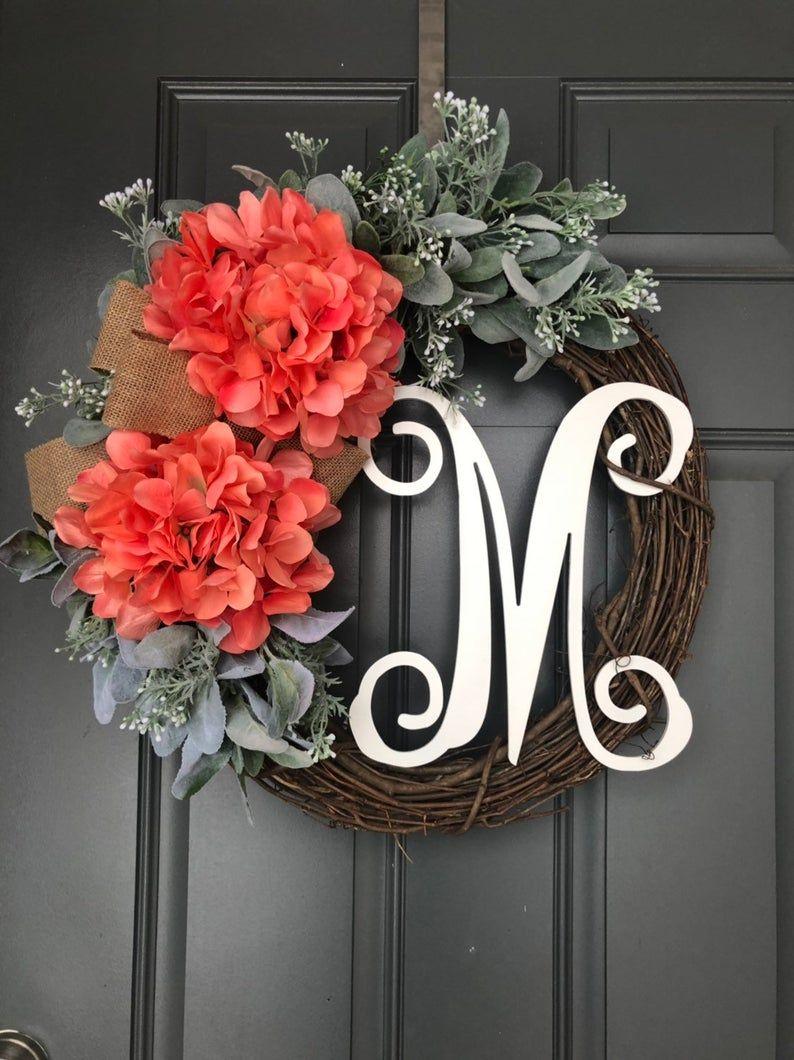 Photo of Summer Wreaths for Front Door, Spring Wreath, Wreath for Front Door, Spring Wreaths for Front Door, Summer door wreath, Front door wreaths