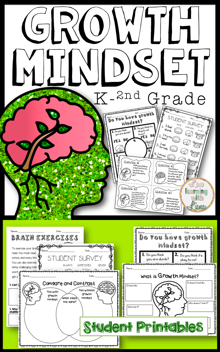 Mindset Growth Mindset unit for first grade! The best printables, growth mindset question cards, growth mindset flip book, posters for encouragement, reading comprehension, and so much more fore growth mindset resources and activitiesGrowth Mindset unit for first grade! The best printables, growth mindset question cards, growth mindset flip b...
