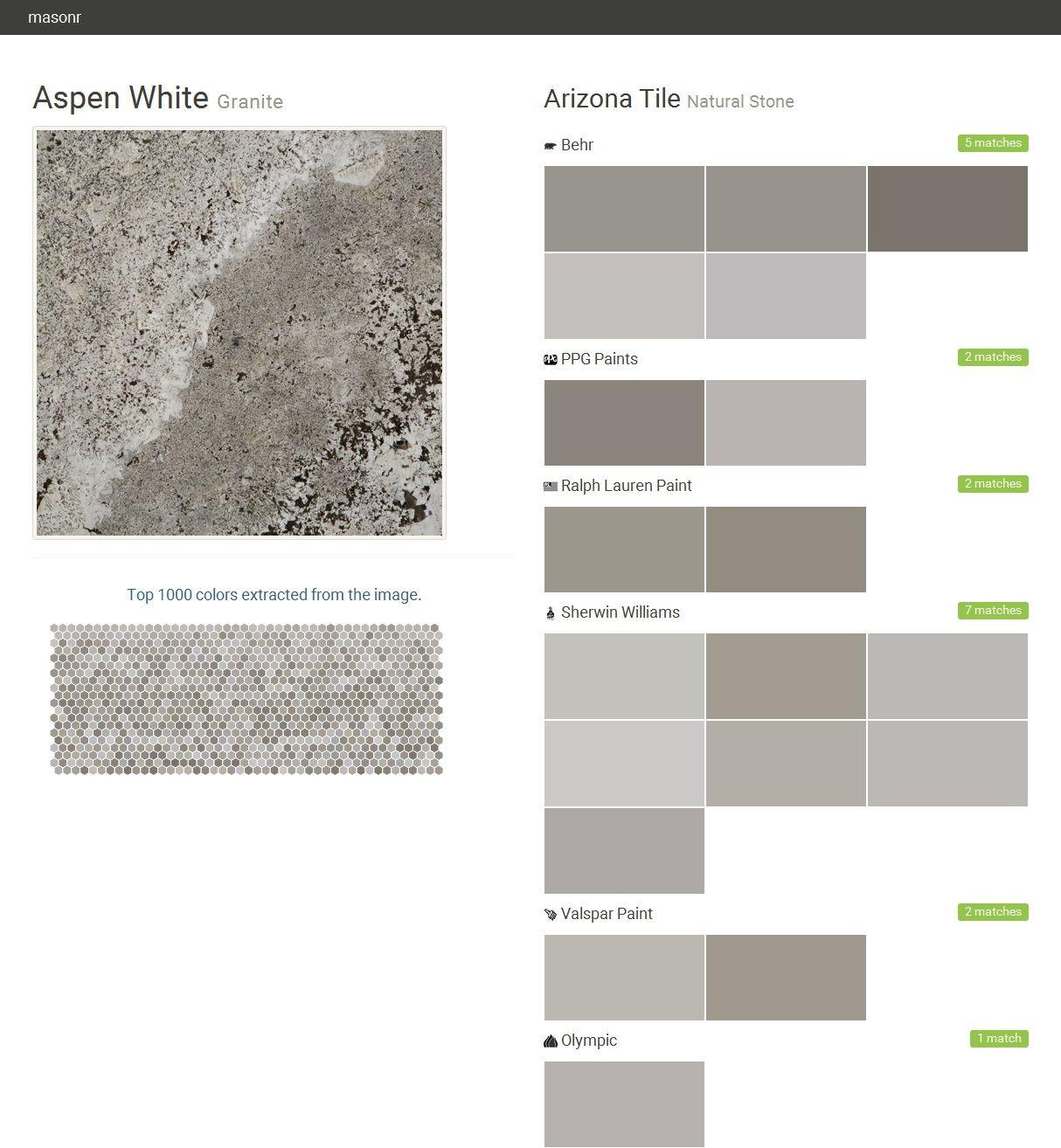 Aspen White Granite Natural Stone Arizona Tile Behr