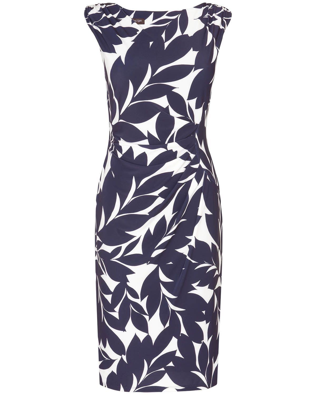 Work Dresses | Blue Leaf Print Dress | Phase Eight | Clothes ...