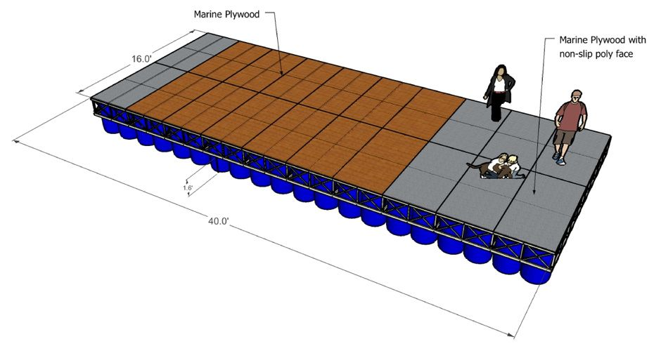 Plastic Barrel Floating Dock Plans Dock Plans
