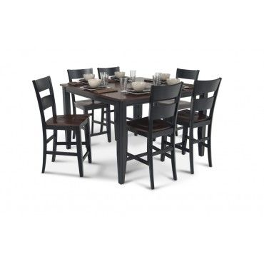 Blake Pub 7 Piece Dining Set In White Let S Play House