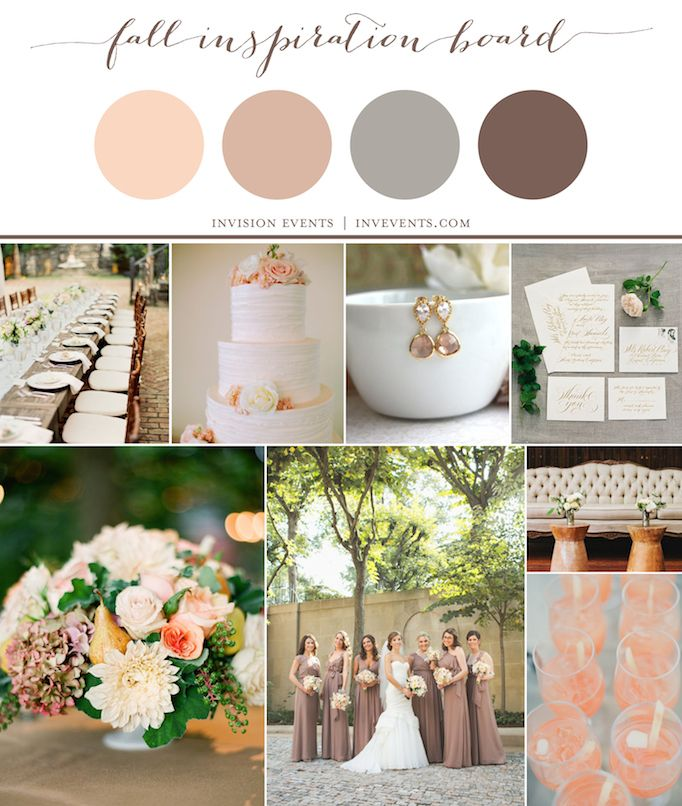 Fall Wedding Color Ideas: Fall Wedding Colors - Love This Palette!