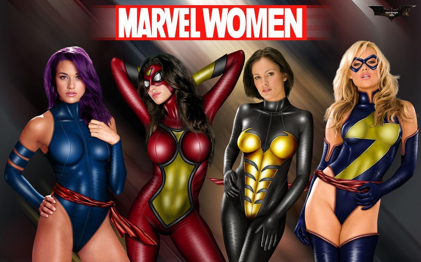 marvel heroes nude girls