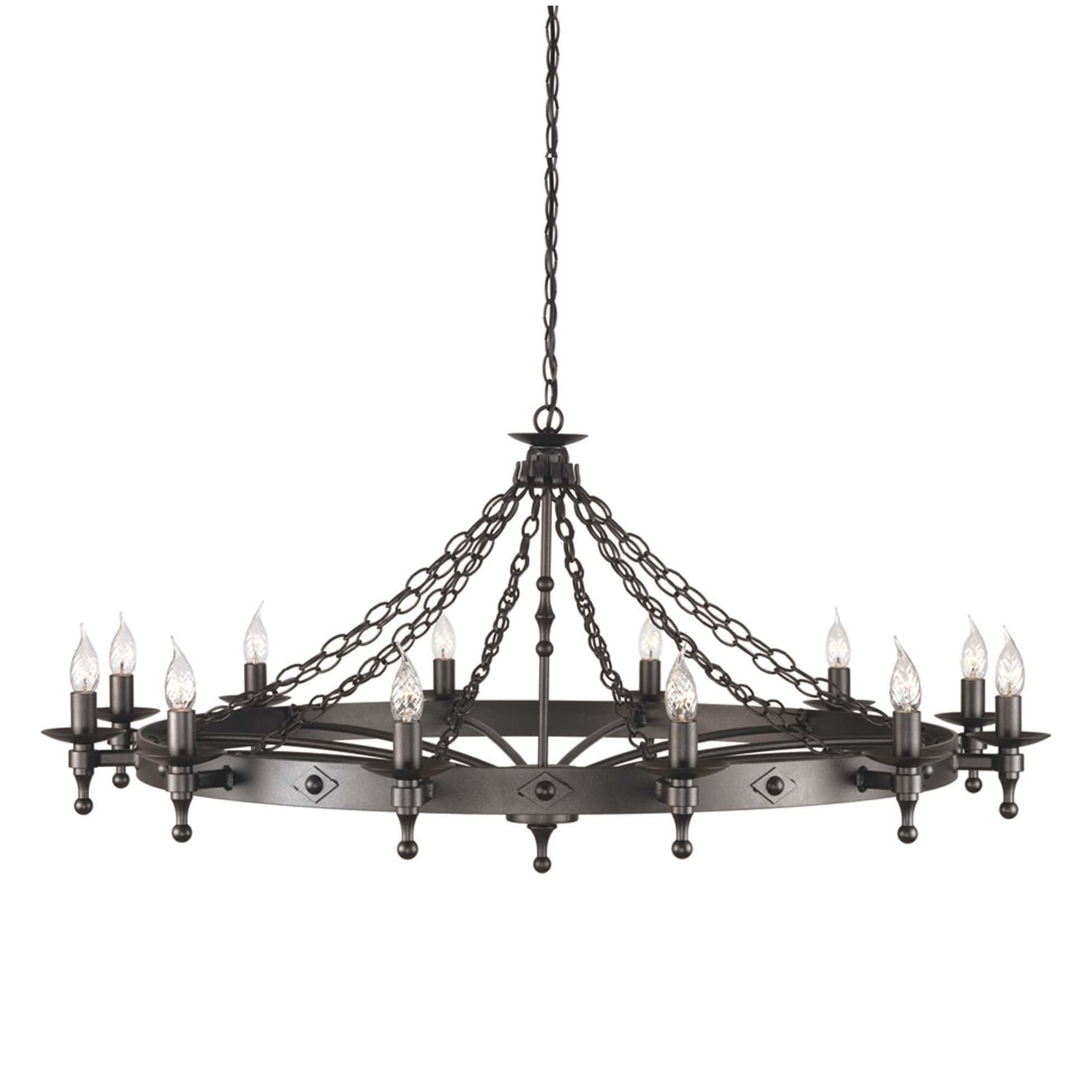 Elstead warwick 12 light black metal candle chandelier home elstead warwick 12 light black metal candle chandelier arubaitofo Choice Image
