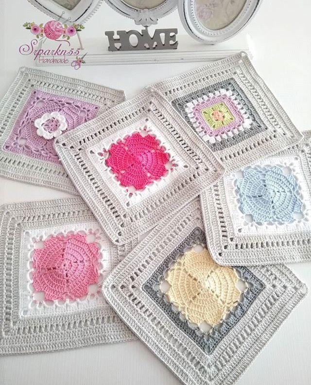 squares | Tejidos | Pinterest | Ganchillo, Croché y Colcha de ganchillo