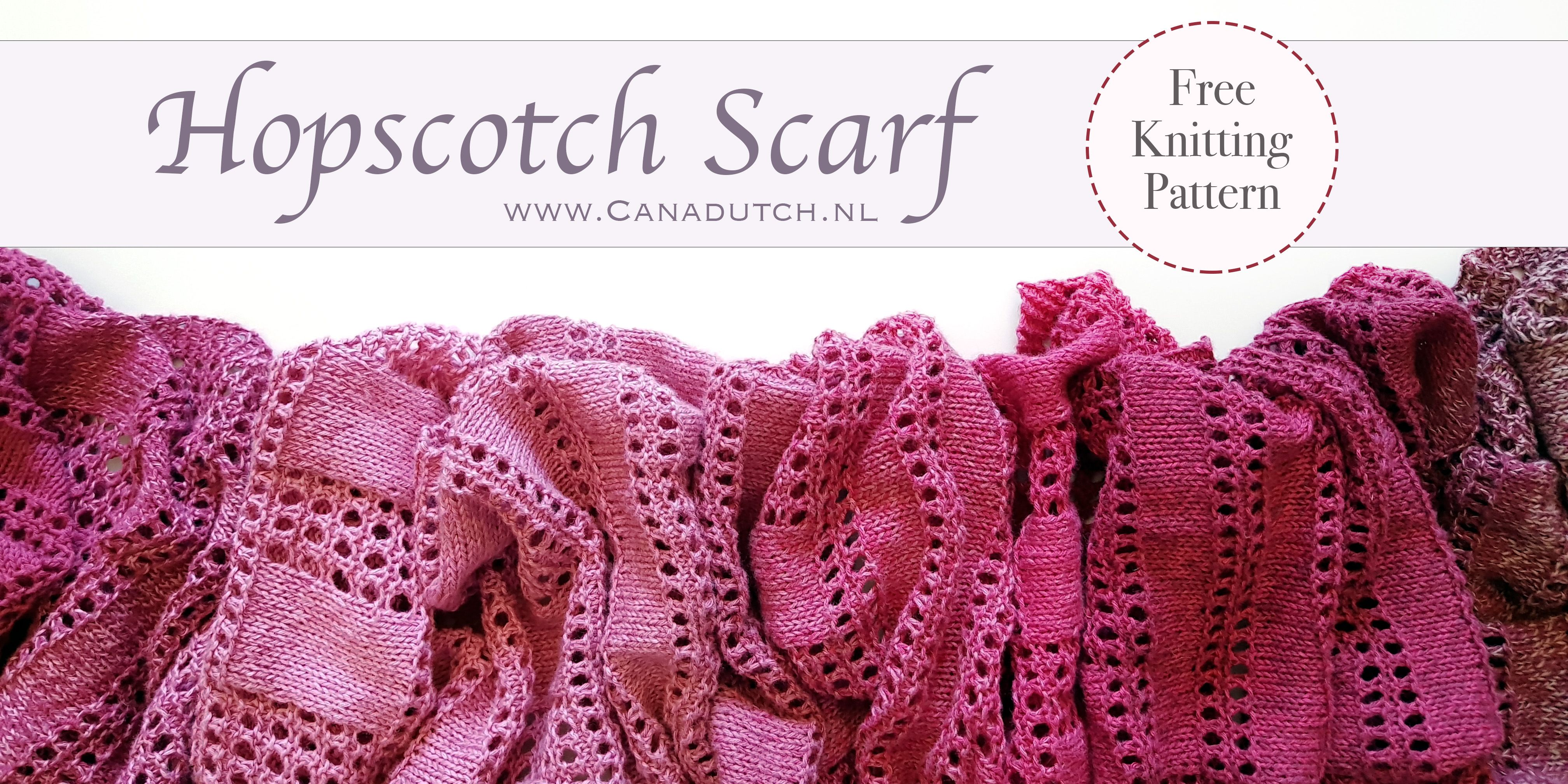 Hopscotch Scarf – Free Knitting Pattern – Canadutch | Knitting ...