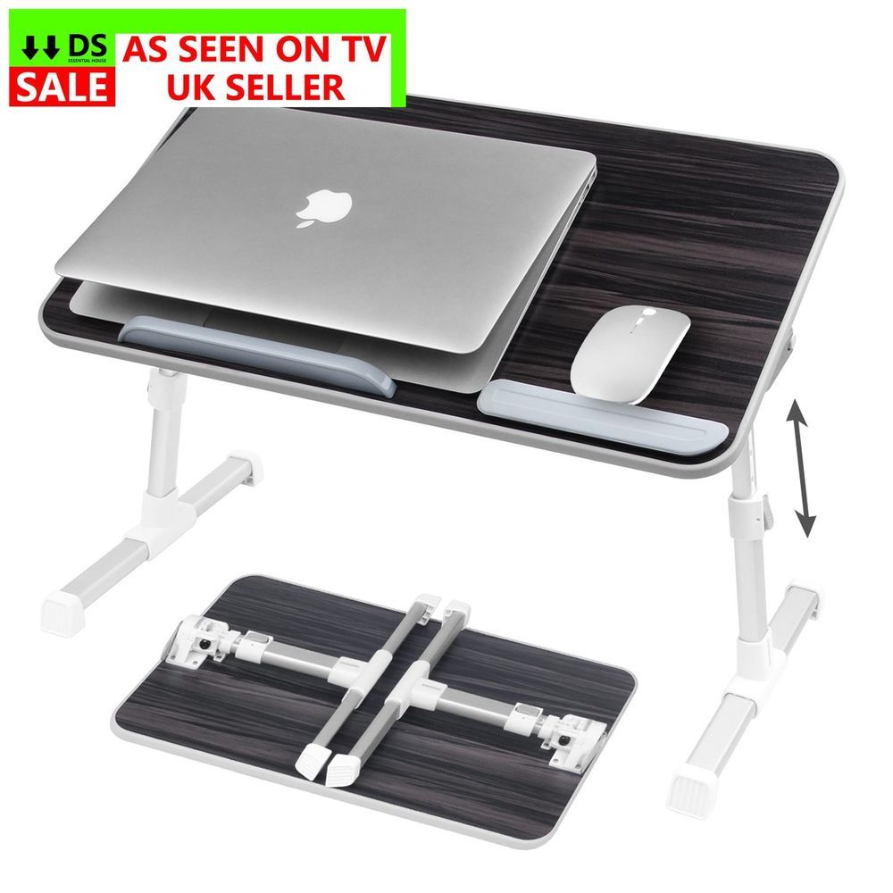 Office folding tables nearpow adjustable laptop bed table bed tray table portable standing