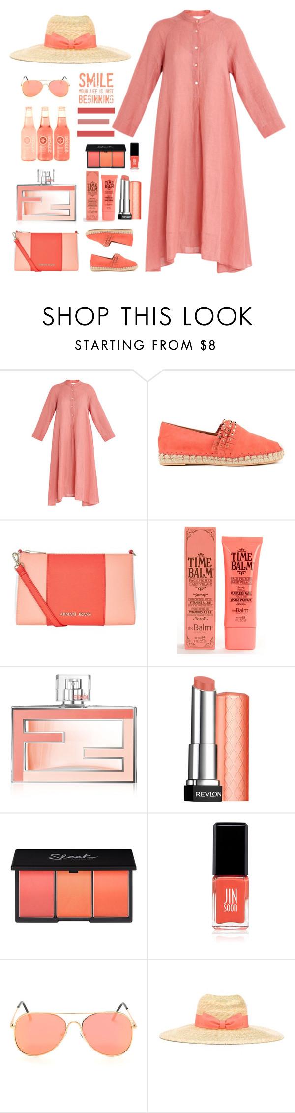 """Forte Forte Mandarin Shirt Dress"" by bodangela ❤ liked on Polyvore featuring Forte Forte, Valentino, Armani Jeans, TheBalm, Fendi, Revlon, Jin Soon and Lanvin"