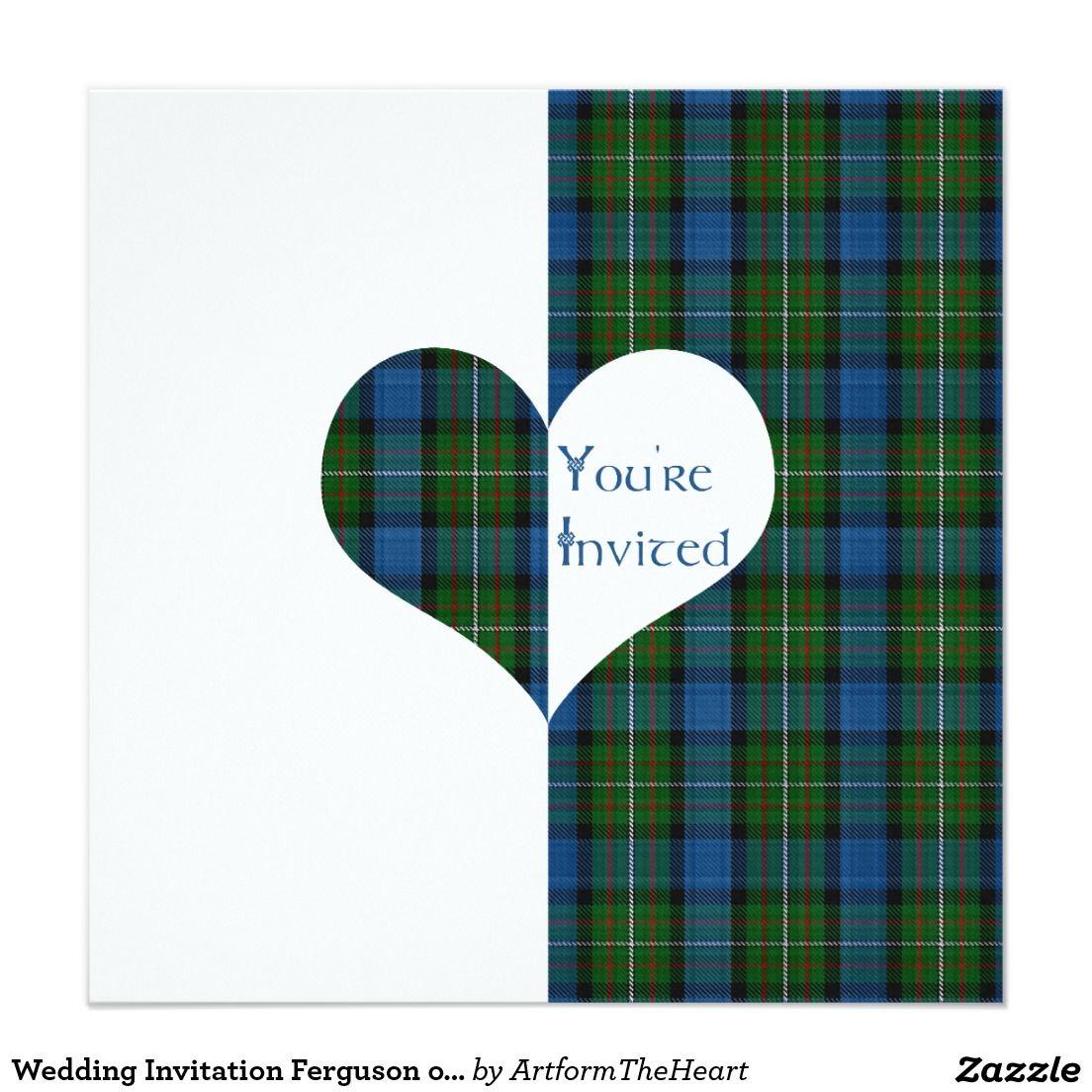 Wedding Invitation Ferguson of Atholl Tartan Heart | TARTAN WEDDING ...