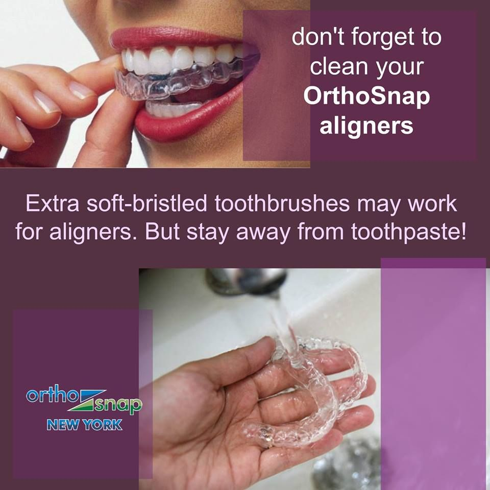 Take care of your OrthoSnap Aligners