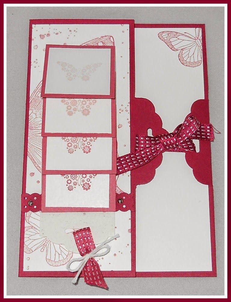 anleitung f r die besondere wasserfallkarte karten. Black Bedroom Furniture Sets. Home Design Ideas