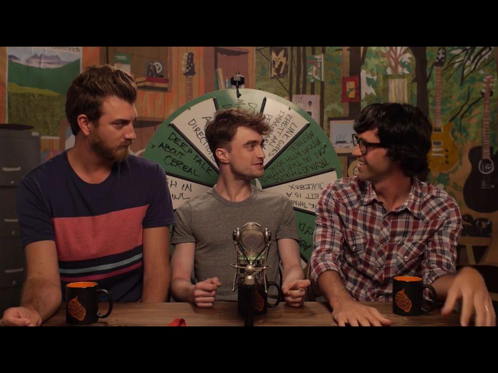 Rhett Link And Daniel Radcliffe Rhett And Link Daniel Radcliffe Good Mythical Morning