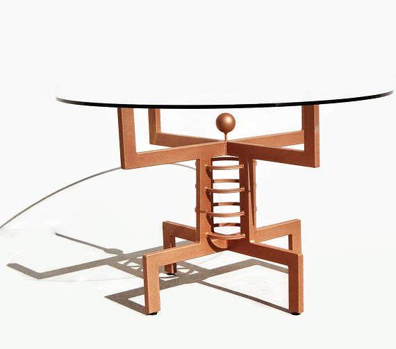 dining table base metal pedestal counter height table bistro table round dining table blue kitchen table hollywood regency table - Pedestal Table Base
