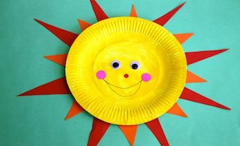 Paper plate sun & Paper plate sun | Paper plate crafts Simple art projects and ...