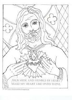 Sacred Heart Of Jesus Coloring Page FREE PRINTABLE Divine Mercy