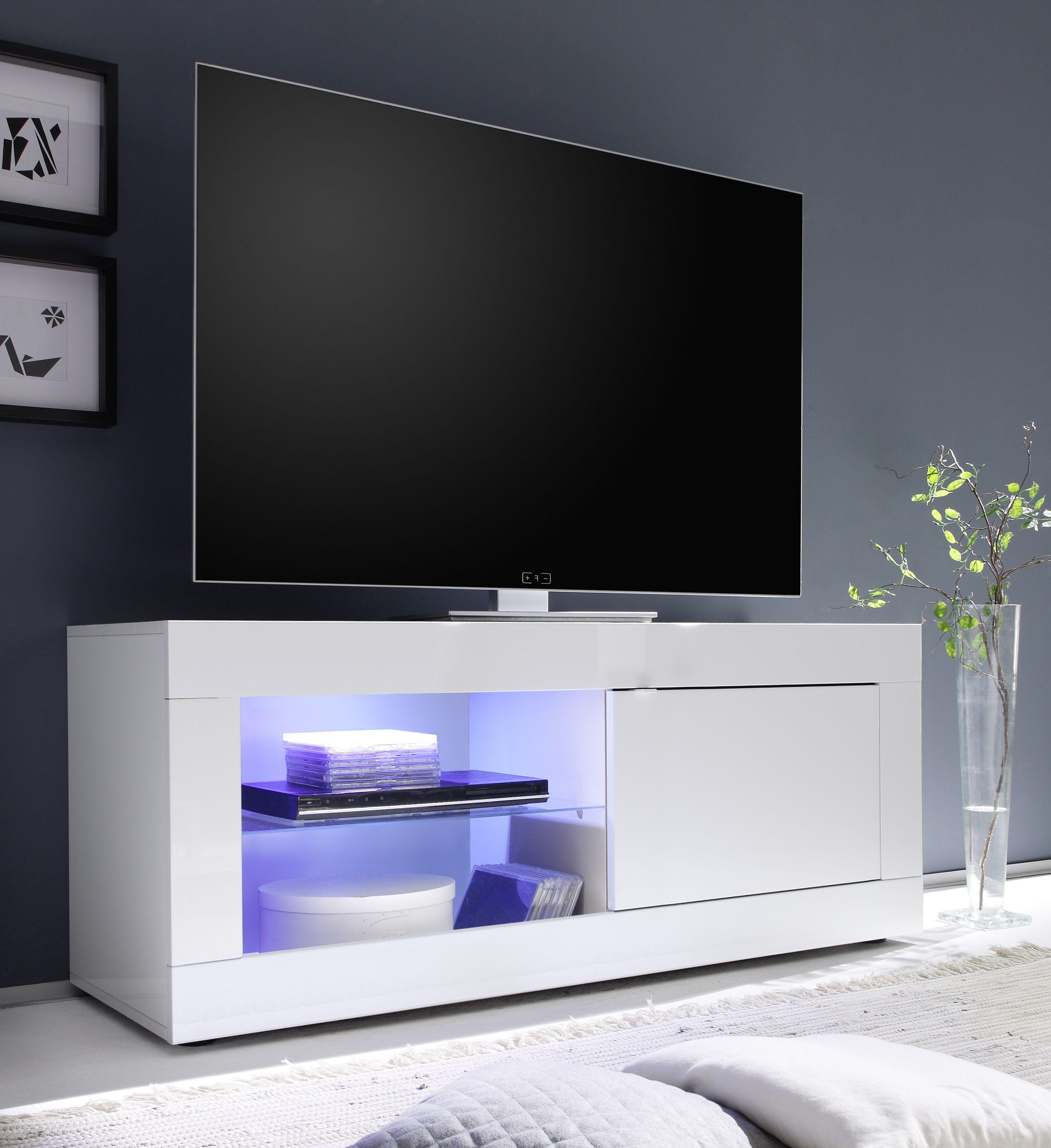 Modern Basic Gloss Tv Meubel Voorzien Van Led Verlichting  # Table Tele Lcd Et Led En Bois