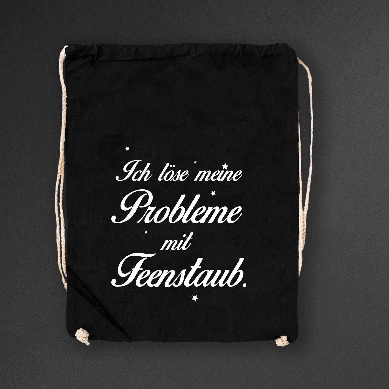 Turnbeutel black ich l se meine probleme mit feenstaub 14 90 einhorn visual statements - Turnen mit kissen ...