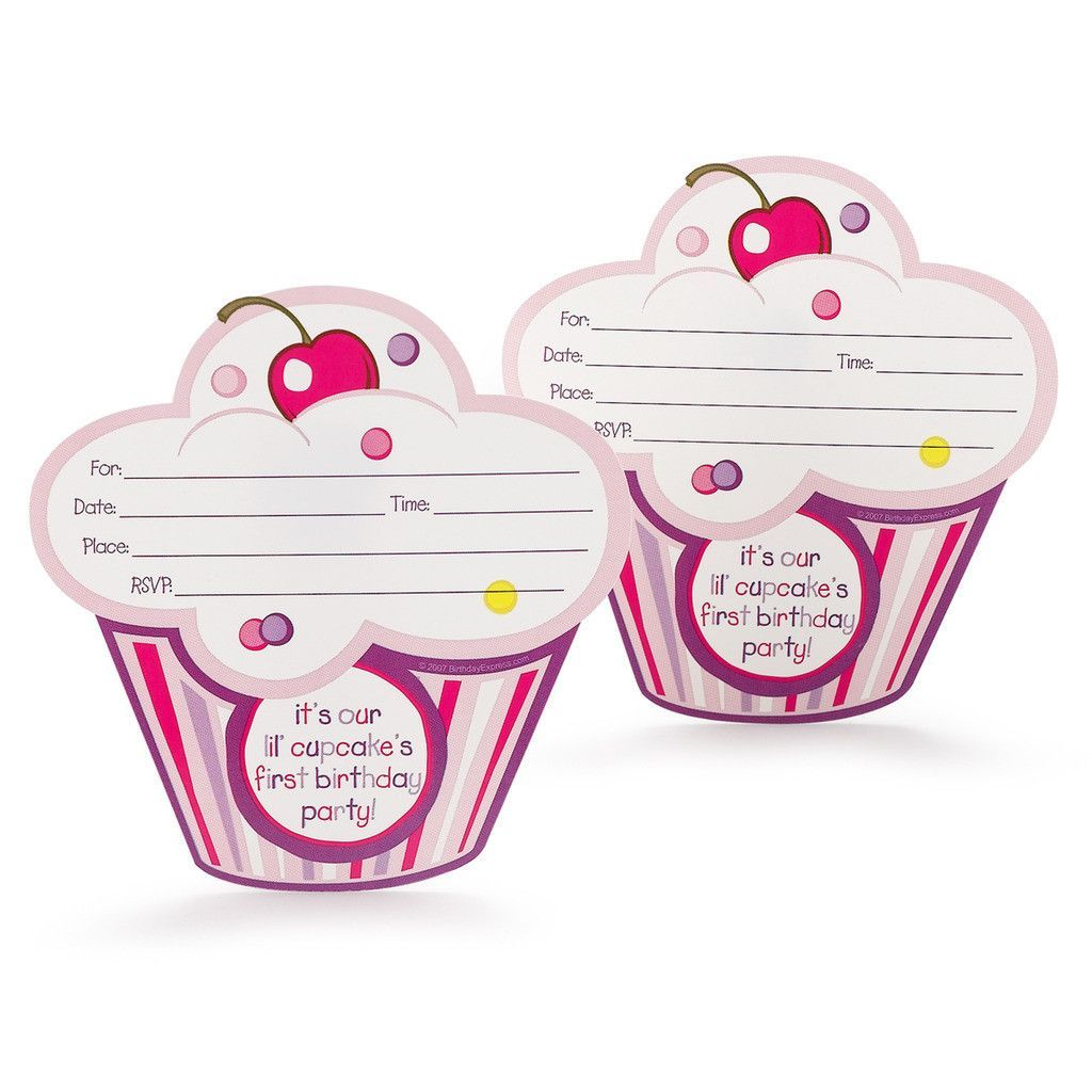 Girls lil cupcake 1st birthday invitations kids birthday girls lil cupcake 1st birthday invitations filmwisefo