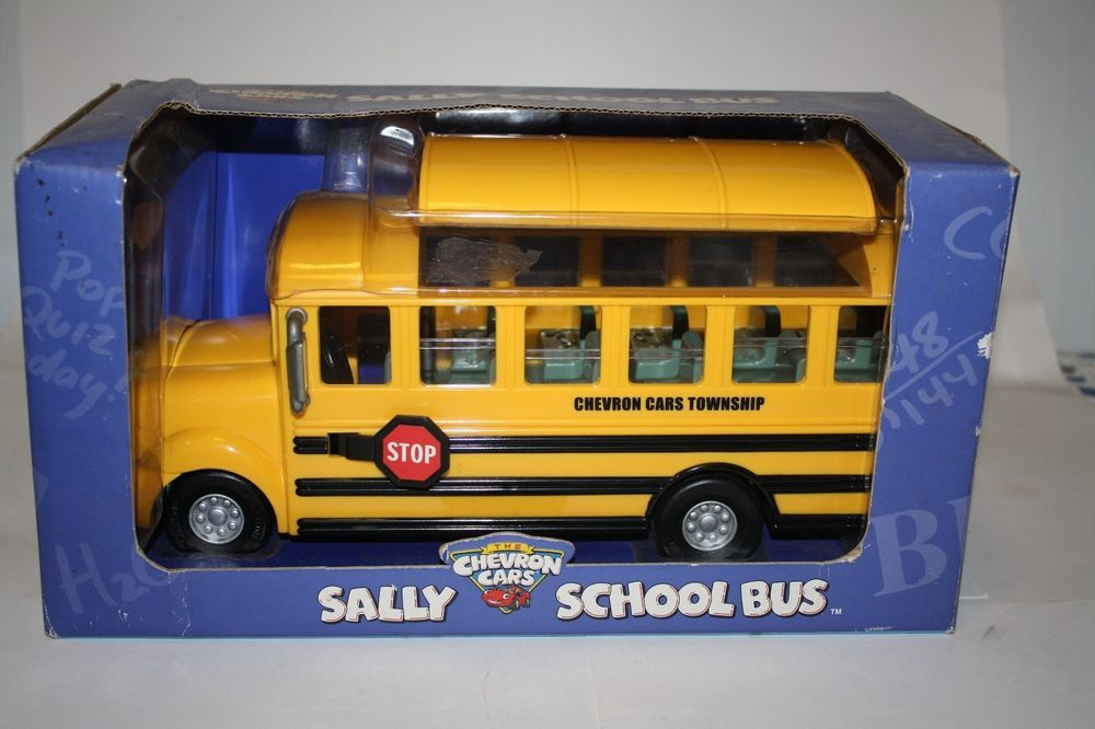 Chevron Toy Cars Sally School Bus 28 In Series New In Box