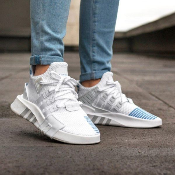 newest collection 4c117 112f1 adidas EQT Bask ADV White/Blue | shoes in 2019 | Adidas eqt ...