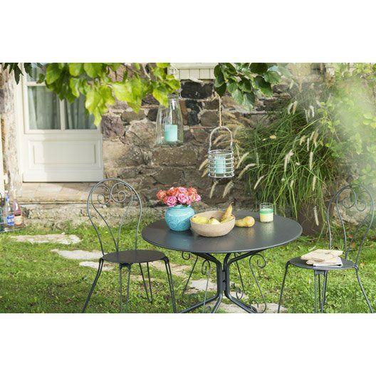 salon de jardin romantique gris anthracite id es d co salons de jardin de r ve pinterest. Black Bedroom Furniture Sets. Home Design Ideas