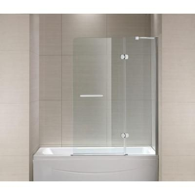 Schon mia 40 in x 55 in semi framed hinge tub and shower door in semi framed hinge tub and shower door in chrome and clear glass sc70014 the home depot planetlyrics Image collections
