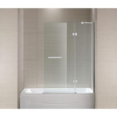 Tub Shower Doors schon mia 40 in. x 55 in. semi-framed hinge tub and shower door in