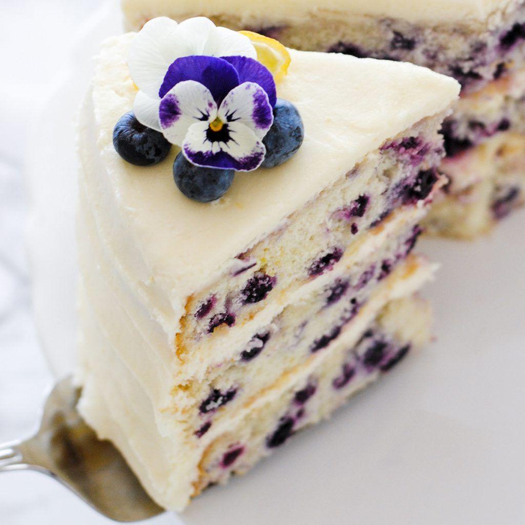 Lemon Blueberry Cake The Cake Blog Recipe Cake Recipes Layer Cake Recipes Desserts
