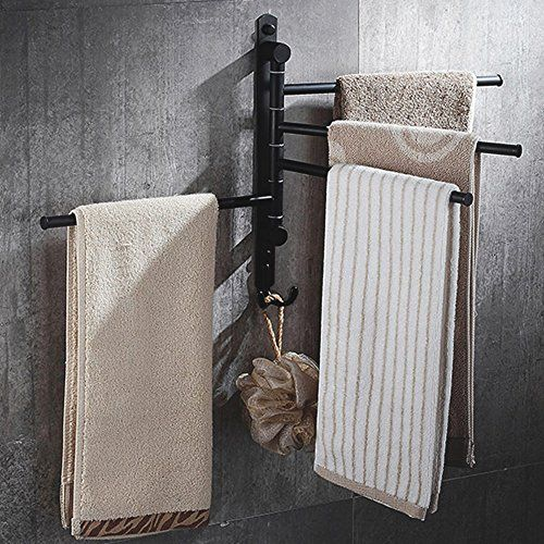 Towel Rack Starvast Wall Mounted Swivel Towel Holder Swi Https Www Amazon Com Dp B0711j1754 Ref Cm Sw R Pi Dp U X Towel Rack Towel Bar Bathroom Towel Bar Swing arm towel bars