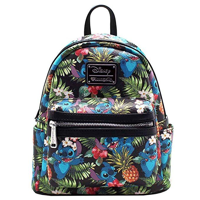 67cc0f7d084 Loungefly X Disney Stitch Pineapple AOP Mini Backpack