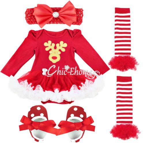 84f0d7f889b6 Newborn Baby Girl Christmas Fancy Costume Romper Tutu Dress Outfit ...