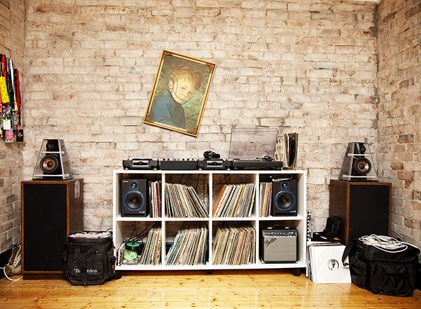 storing your record collection and turntable setup can be. Black Bedroom Furniture Sets. Home Design Ideas