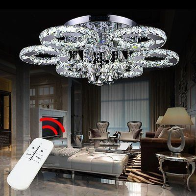 Details zu LED Kristall Deckenleuchte Wohnzimmer Wandlampe Küche ...