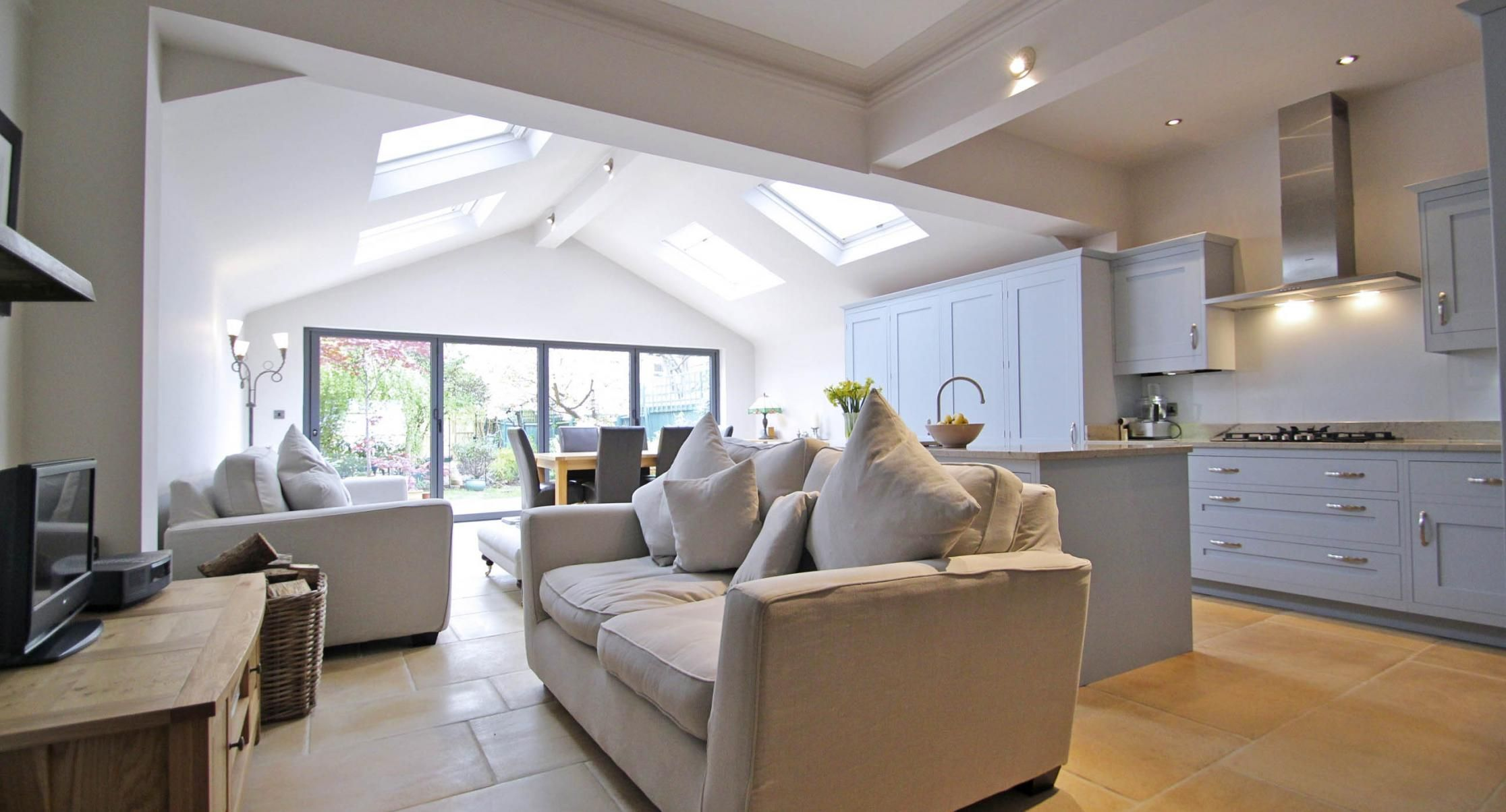 Theartofbuildingcouk Bingcomimages Description Extension Searched Ceiling Created Vaulted Lights Open Plan Kitchen Living Room Kitchen Extension Home