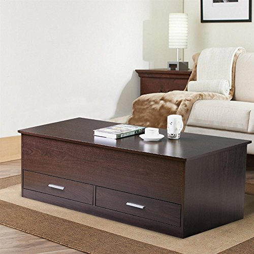 Yaheetech Slide Top Trunk Coffee Table With Storage Box 2 Drawers Sale Coffee Tables Shop Buymorecoffee Com Coffee Table Storage Furniture Living Room Living Room Decor