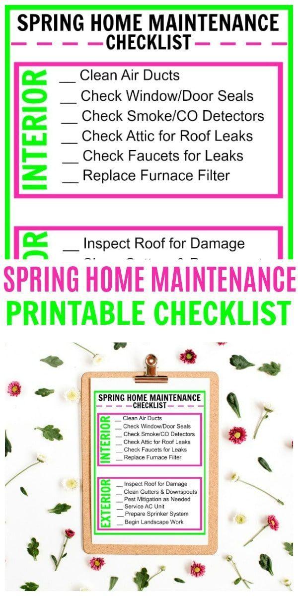 Photo of Checkliste für die Wartung von Spring Home